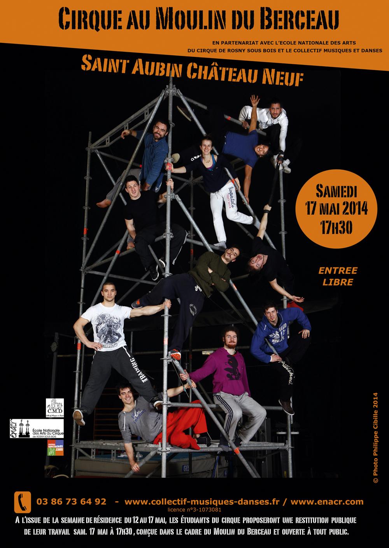 Performance de cirque contemporain